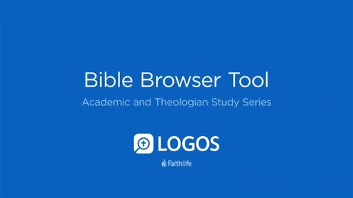 11. Bible Browser Tool