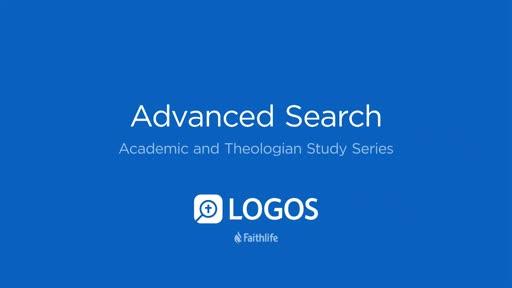 8. Advanced Search