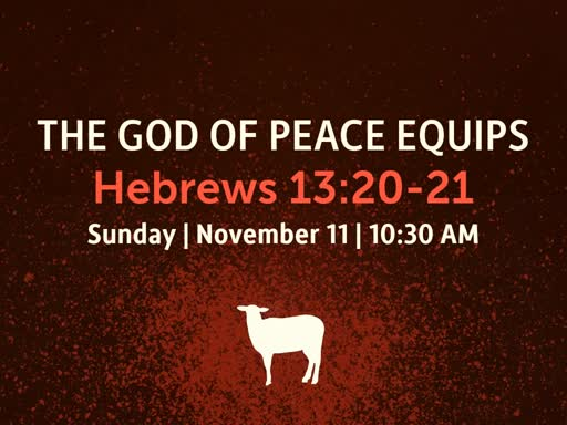 The God Of Peace Equips