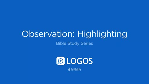 3. Observation: Highlighting