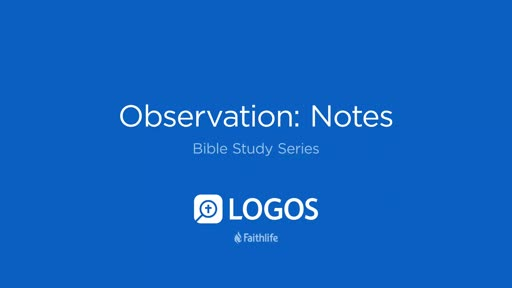 4. Observation: Notes Tool