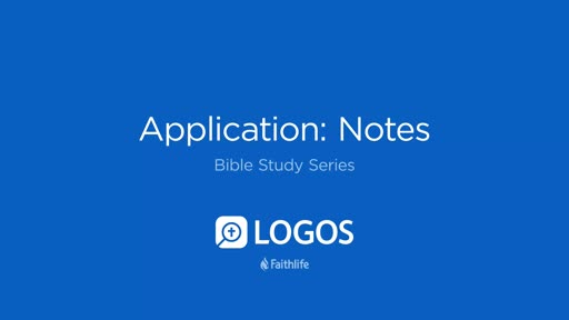 9. Application: Notes