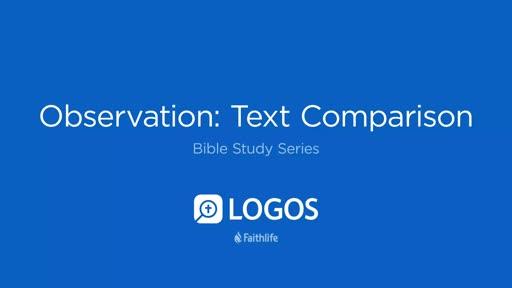 5. Observation: Text Comparison