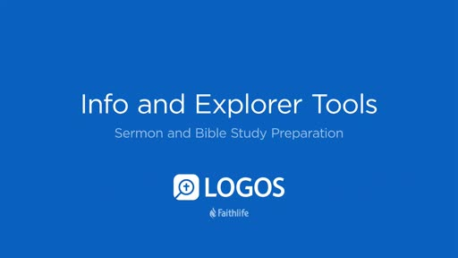 5. Info and Explorer Tools