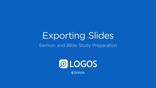 11. Exporting Slides