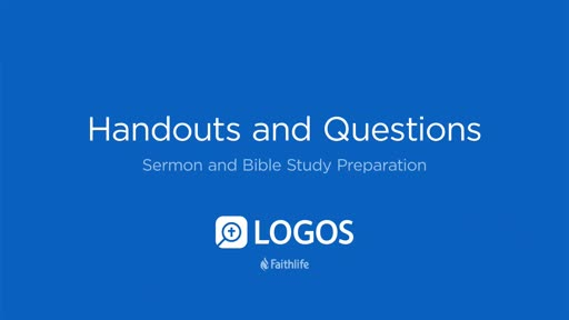 10. Handouts and Questions