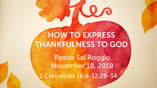 How to Express Thankfulness to God