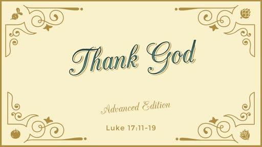 Thank God -- Advanced Edition