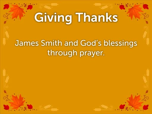 Annual Thanksgiving Share Service