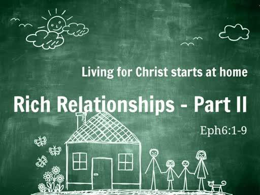 Rich Relationships - Part II