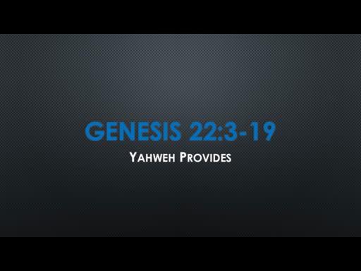 Genesis 22:3-19