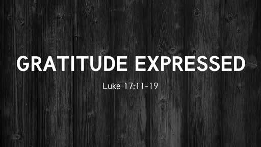 Gratitude Expressed