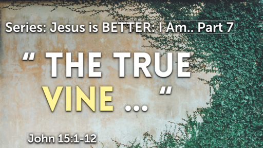 """ The True Vine ""  John 15:1-12"