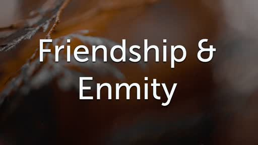 Friendship & Enmity 11/25/18