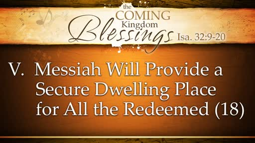 2018-11-25 PM - The Coming Kingdom Blessings