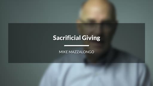 Sacrificial Giving