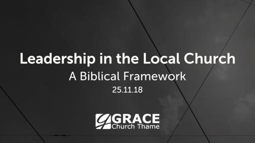 Leadership in the Local Church