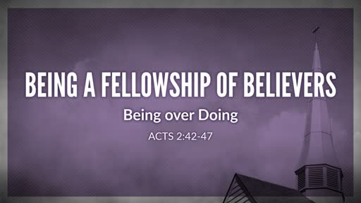 Being a fellowship of Believers