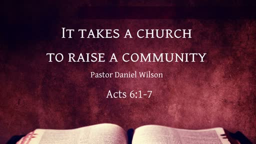 It takes a church to raise a community