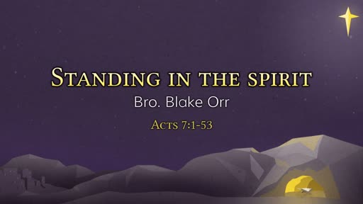 Standing in the Spirit - Sunday Service - December 2nd, 2018