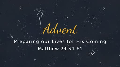 12/2: Advent- Preparation