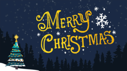 Merry Christmas Night 16x9 PowerPoint image