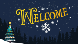 Merry Christmas Night welcome 16x9 PowerPoint image