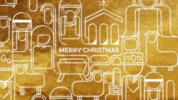 Golden Nativity  PowerPoint image 1