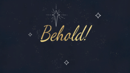 Advent Behold 16x9 PowerPoint image