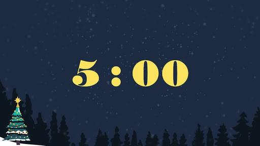 Merry Christmas Night - Countdown 5 min