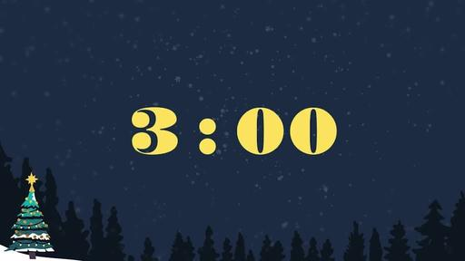 Merry Christmas Night - Countdown 3 min