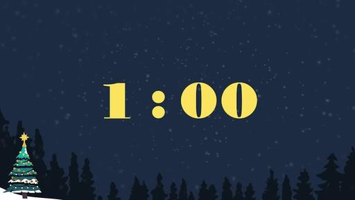 Merry Christmas Night - Countdown 1 min