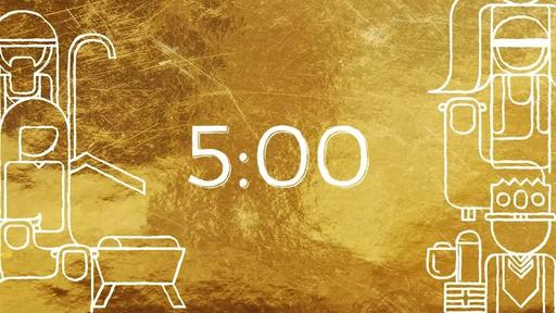 Golden Nativity - Countdown 5 min