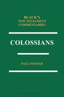 Black's New Testament Commentaries: Colossians