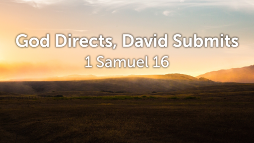 God Directs, David Submits