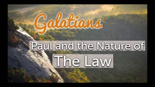 Paul and the Nature of the Law