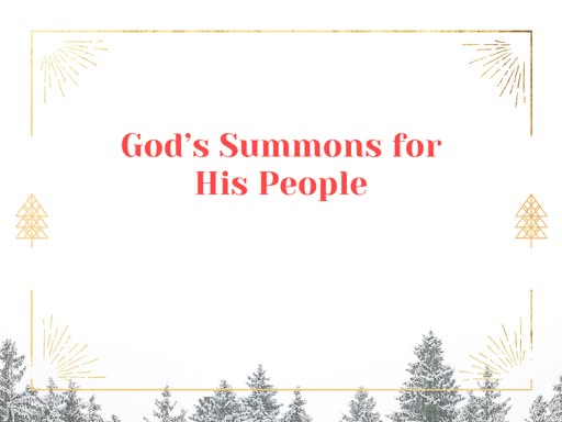 God's Summons for His People