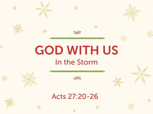 God With Us In the Storm