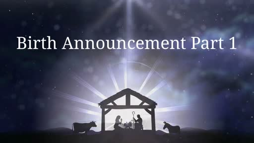 Birth Announcement Part 1