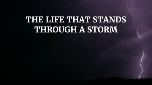 The Life That Stands Through a Storm