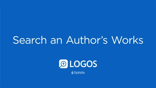 Search an Author's Works