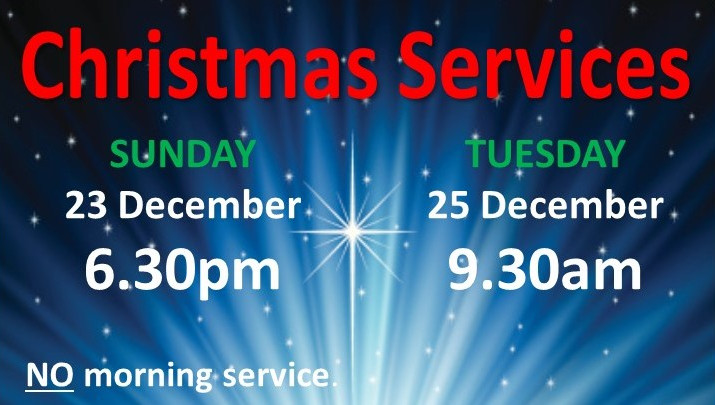 Sign For Church Christmas Services