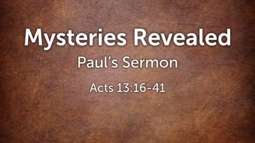 Mysteries Revealed - Paul