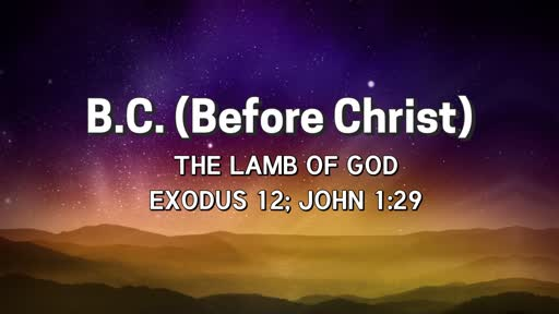 Sunday, December 16 - AM - Lamb of God