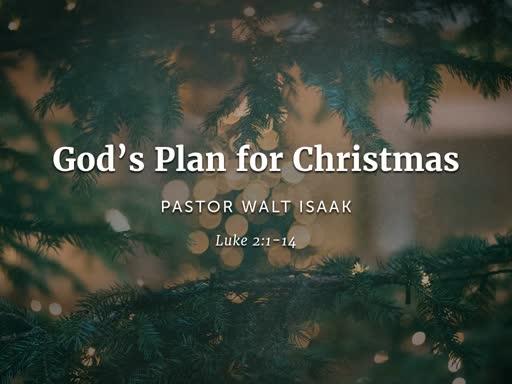 Gods Plan for  Christmas