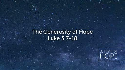 The Generosity of Hope