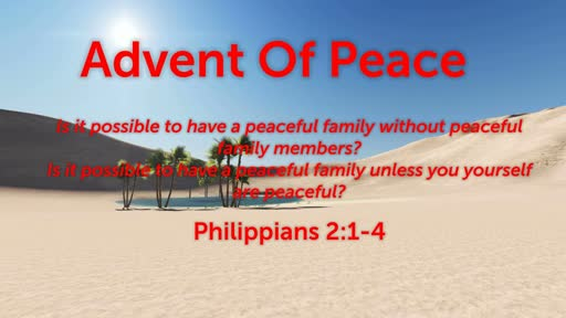 Advent Of Peace