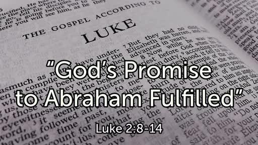 """God's Promise to Abraham Fulfilled"""
