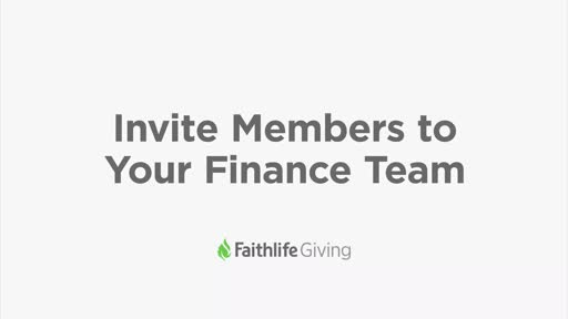 Invite Members To Your Finance Team