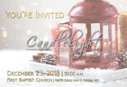 Candlelight Service (December 23, 2018)